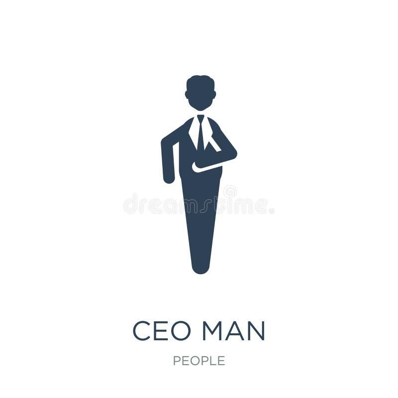 ceo mężczyzny ikona w modnym projekta stylu ceo mężczyzny ikona odizolowywająca na białym tle ceo mężczyzny wektorowej ikony pros ilustracji