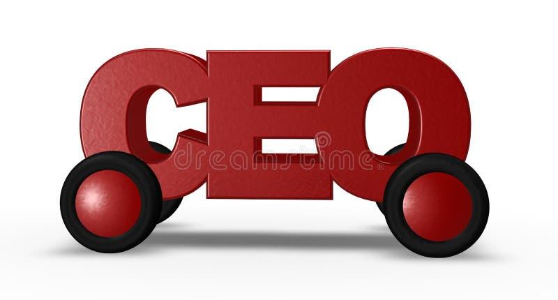 CEO nas rodas ilustração stock