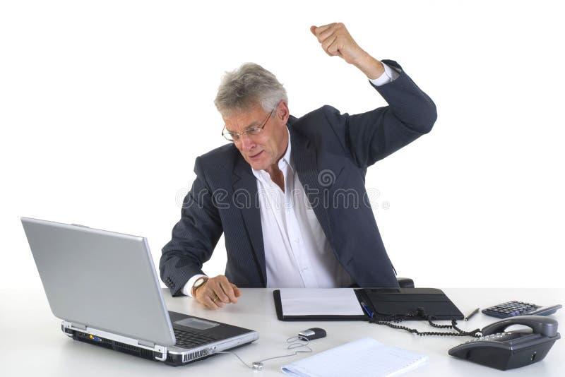 CEO o encargado enojado fotografía de archivo