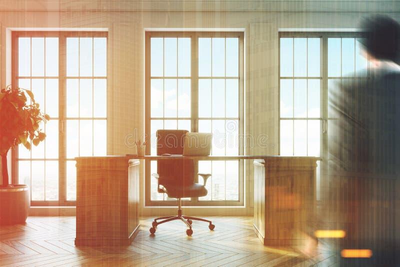 Download CEO Office Interior, Windows, Man Stock Illustration    Illustration Of Desk, Concrete