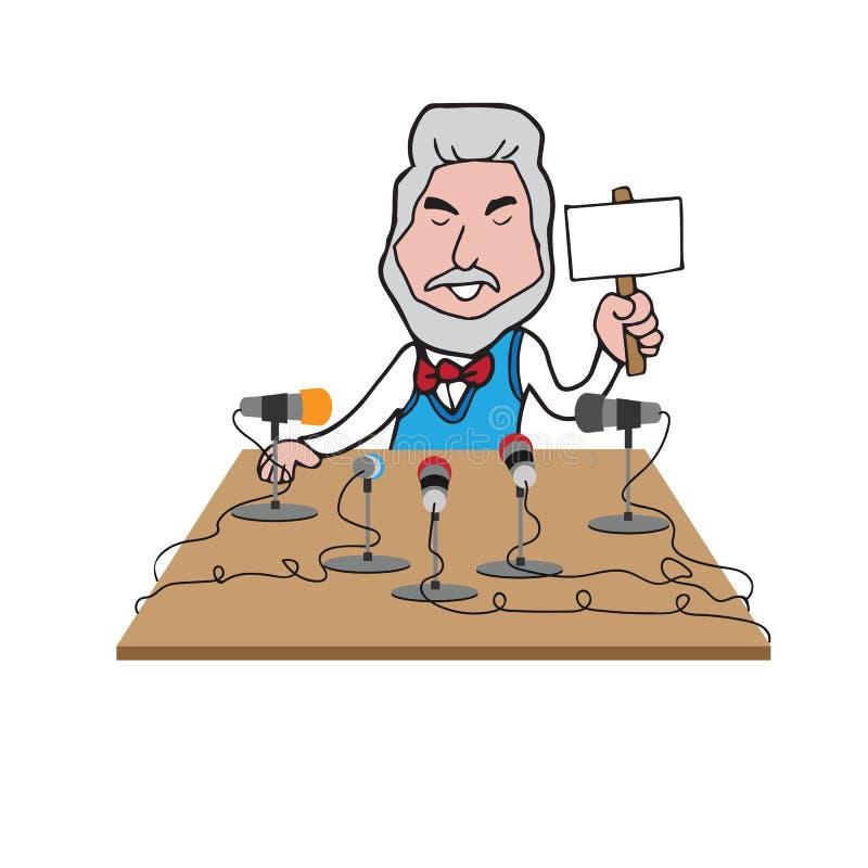 CEO ontmoet pers vector illustratie