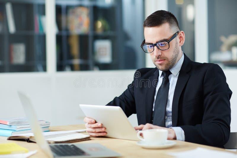 CEO op het werk stock afbeeldingen