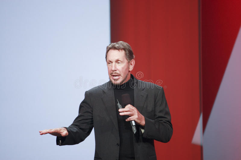 CEO of Oracle Larry Ellison stock photography