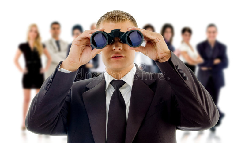 CEO que olha para empregá-lo! foto de stock