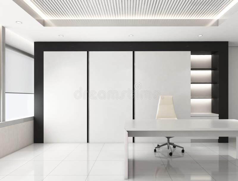 CEO room office corporate, 3d render interior design, mock up stock illustration