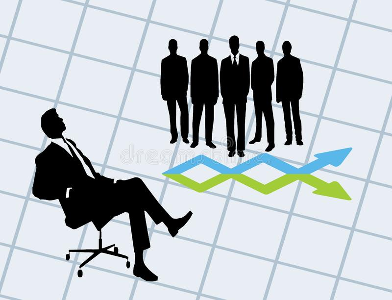 Download CEO and staff deal stock illustration. Image of illustration - 25427818