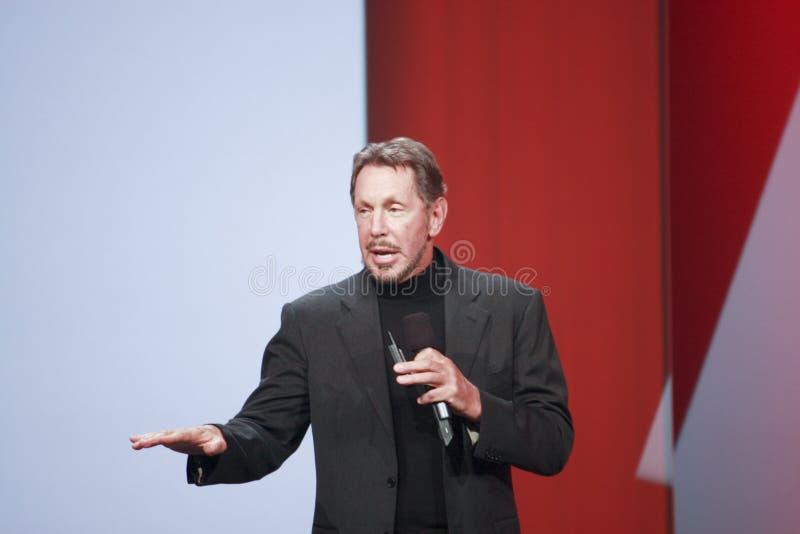 CEO van Orakel Larry Ellison stock fotografie