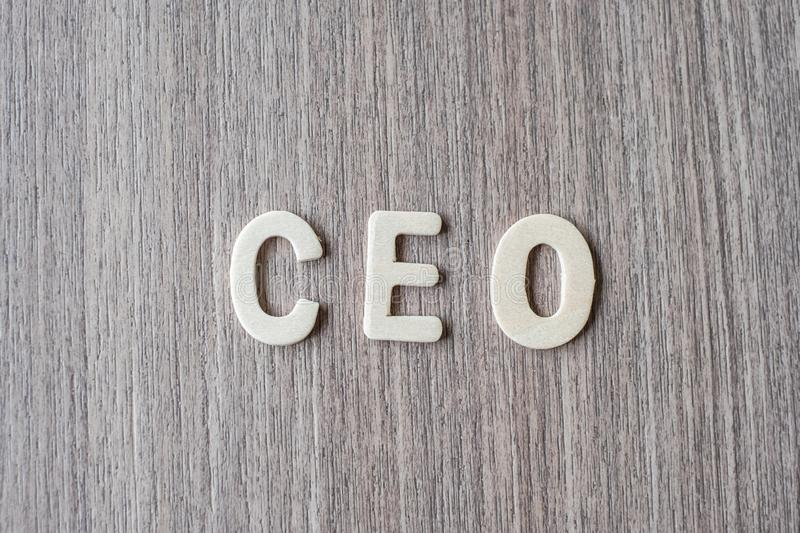CEO word of wooden alphabet letters. Business and Idea. Concept royalty free stock images
