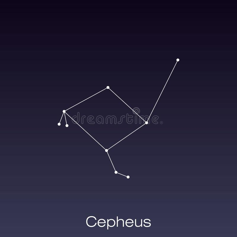 Constellation as it can be seen by the naked eye. Cepheus constellation as it can be seen by the naked eye royalty free illustration