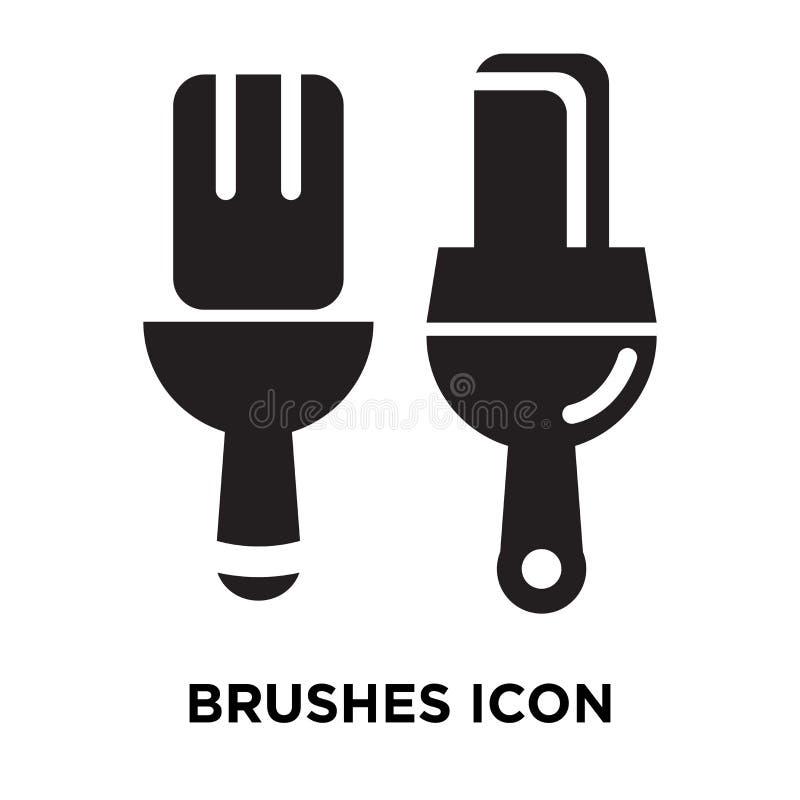 Cepilla el vector del icono aislado en el fondo blanco, concepto o del logotipo stock de ilustración