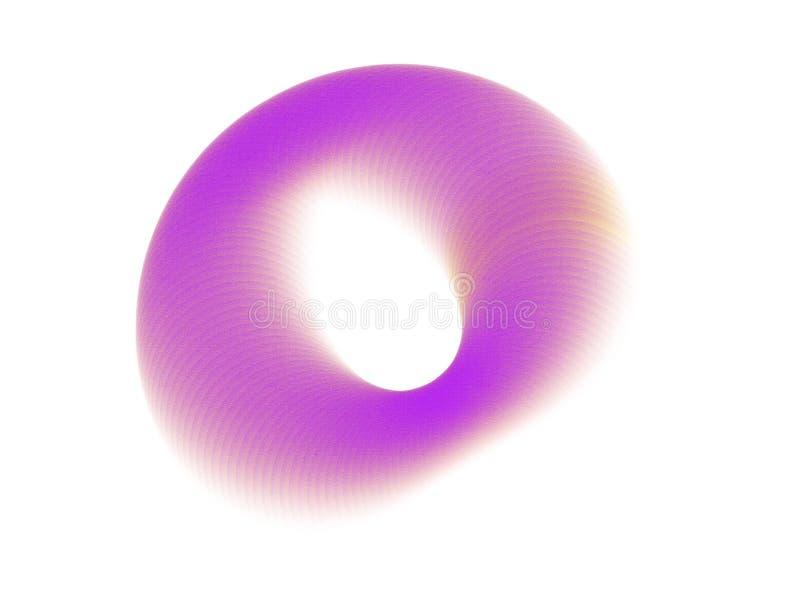 Cepillado incompleto creativo del extracto del círculo Movimiento de la ronda de la tinta del color stock de ilustración