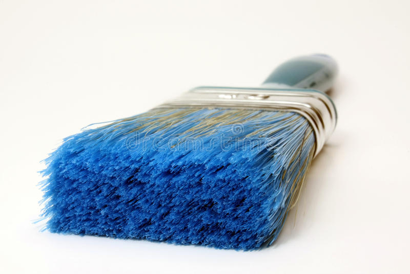Cepillo azul fotografía de archivo