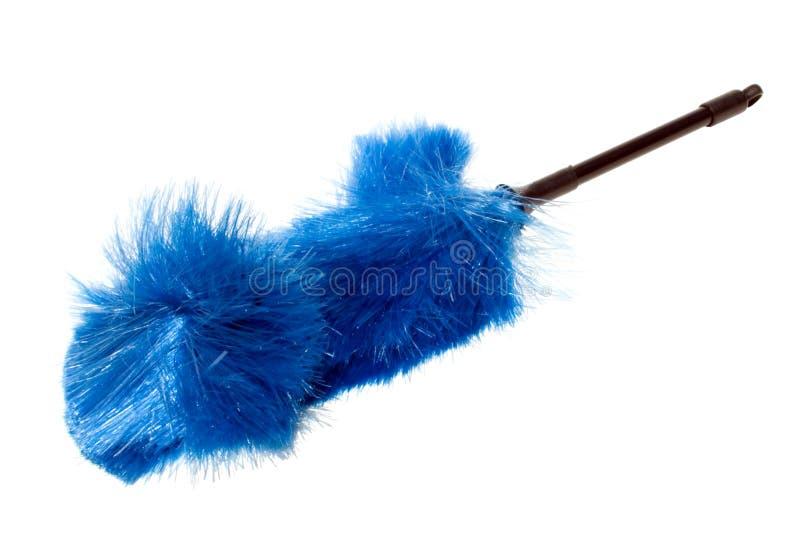 Cepillo azul del polvo, aventado fotos de archivo