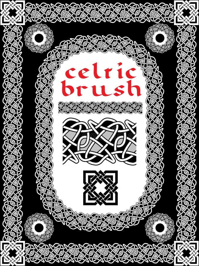 Cepillo céltico para el marco ilustración del vector