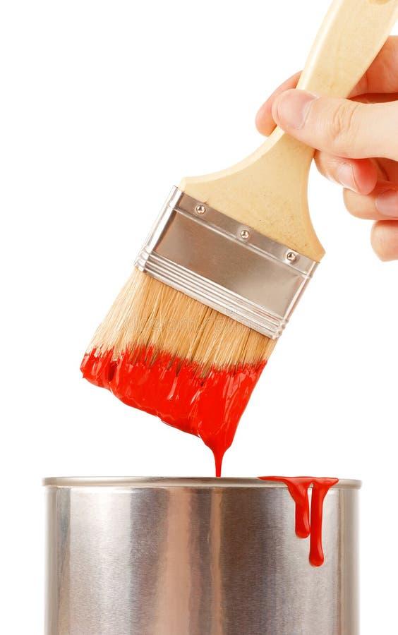 Cepillo con la pintura fotografía de archivo
