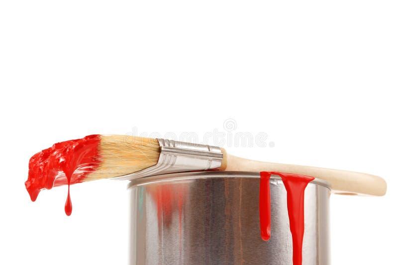 Cepillo con la pintura foto de archivo libre de regalías