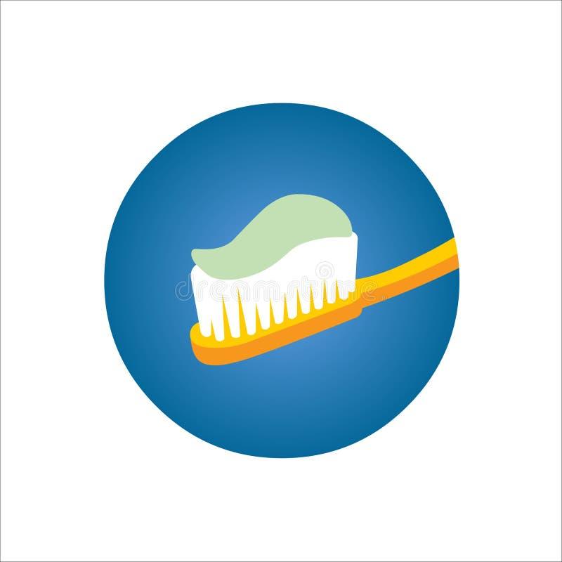 Cepillo de dientes con goma imagenes de archivo