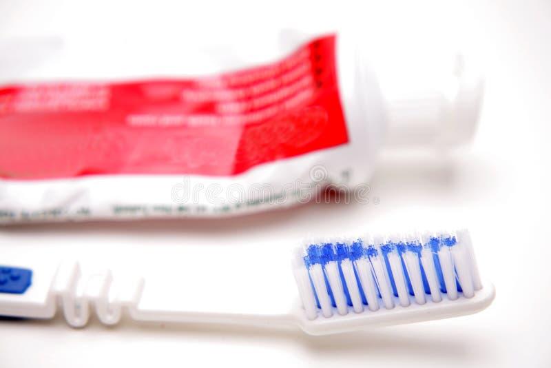 Cepillo de dientes y tubo foto de archivo libre de regalías