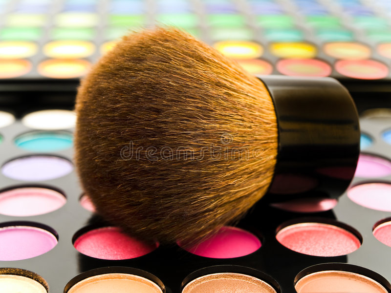 Cepillo de los cosméticos fotografía de archivo