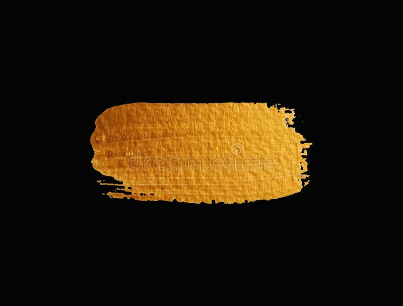Cepillo de oro de la textura foto de archivo