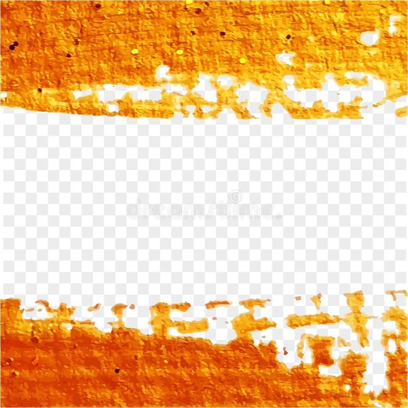 Cepillo de oro de la textura fotografía de archivo libre de regalías