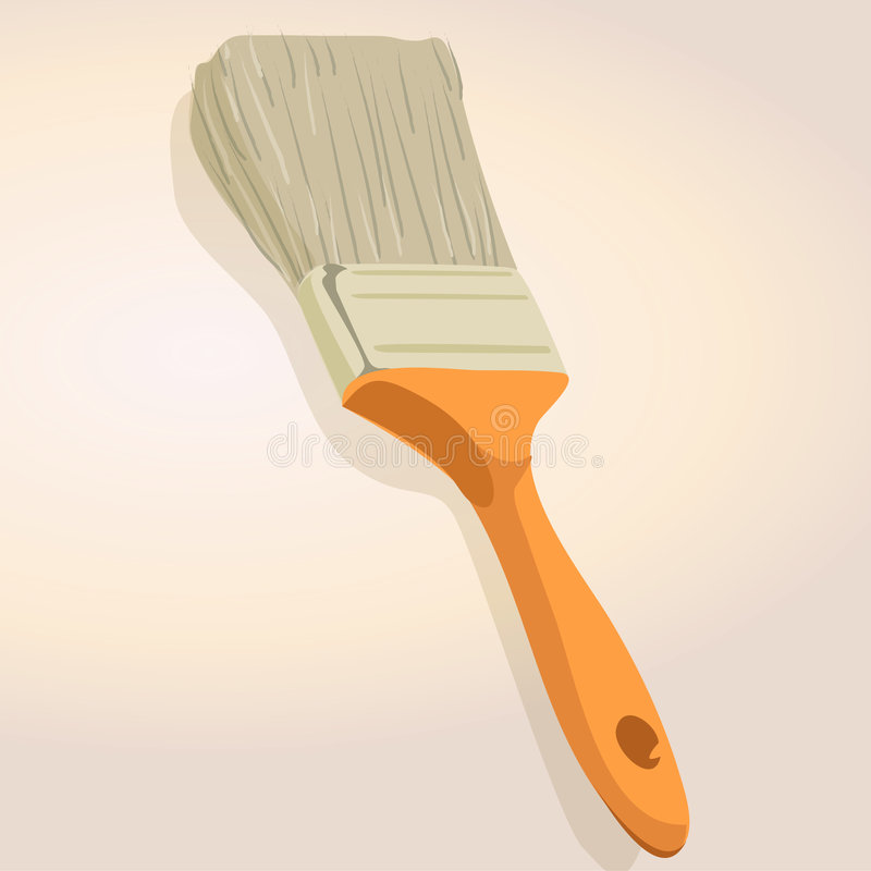 Cepillo de pintura stock de ilustración