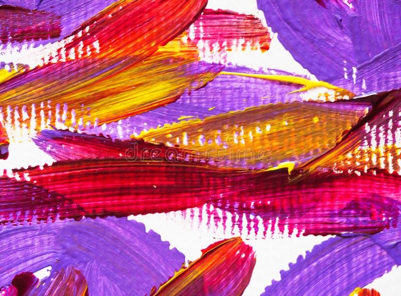 Cepillo de pintura de acrílico de los artes del color de la textura del fondo foto de archivo