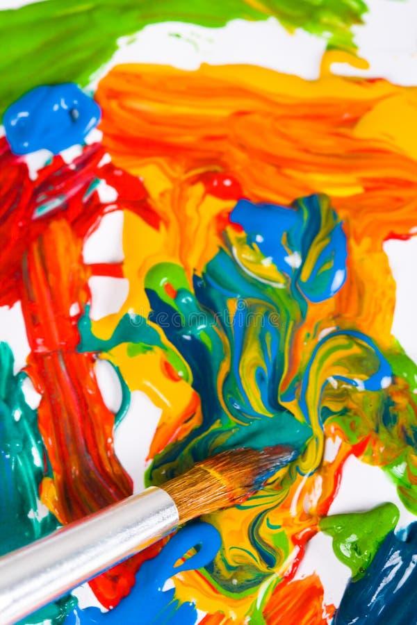 Cepillo de pintura del artista fotografía de archivo libre de regalías