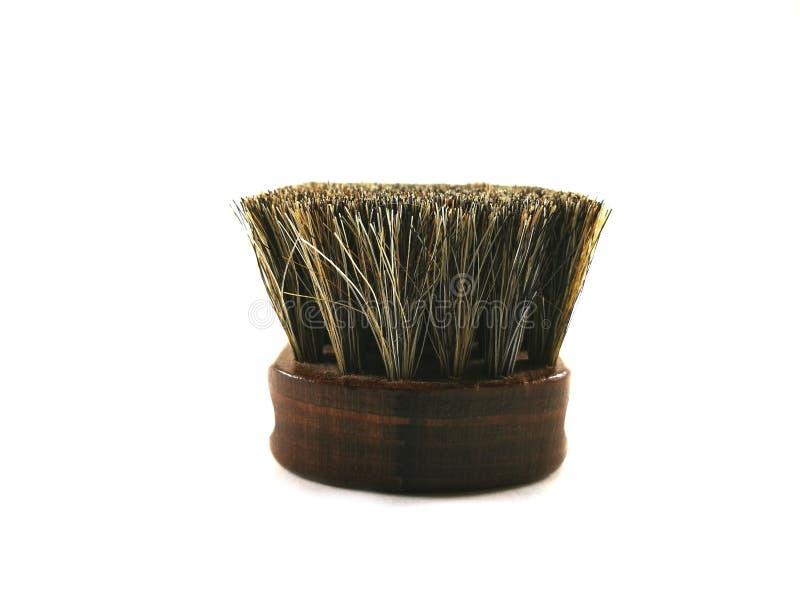 Cepillo del crin de Brown para limpiar fotografía de archivo libre de regalías
