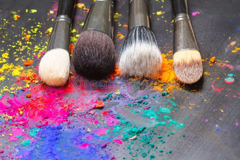 Cepillo del maquillaje foto de archivo libre de regalías