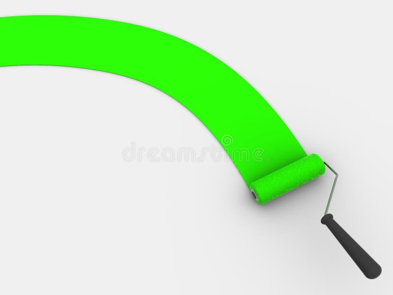 Cepillo del rodillo ilustración del vector