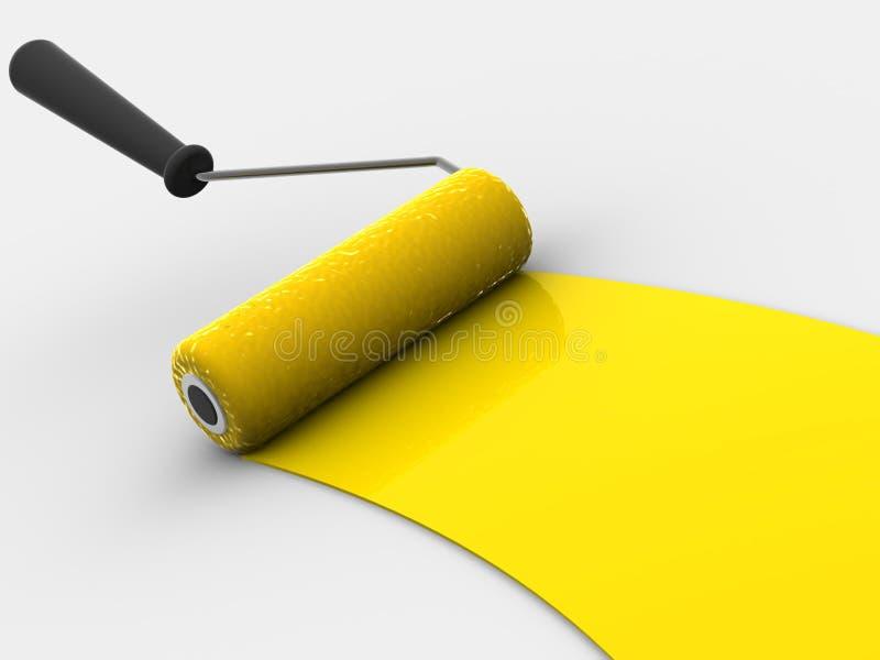 Cepillo del rodillo. 3d stock de ilustración
