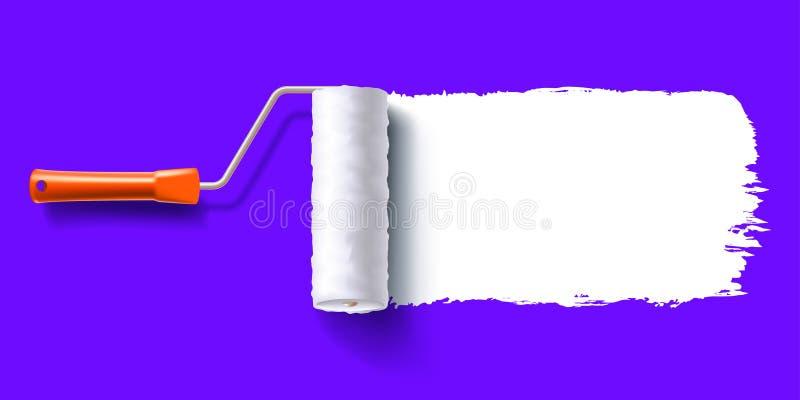 Cepillo del rodillo del cepillo stock de ilustración