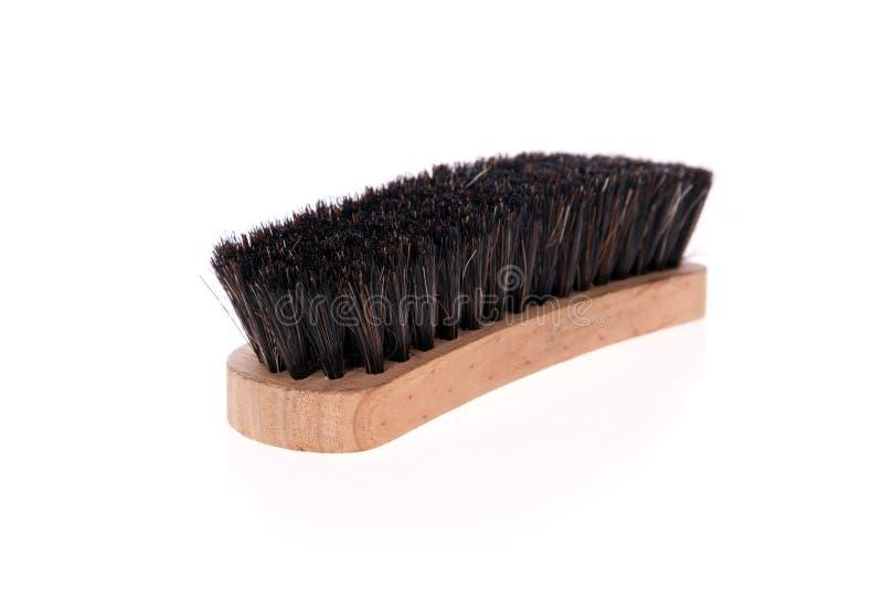 Cepillo del zapato aislado en blanco imagen de archivo