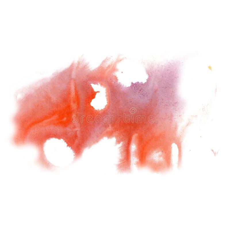 Cepillo púrpura rojo del aquarel del watercolour de la salpicadura del movimiento de la cal del aislante de la acuarela de la tin fotos de archivo
