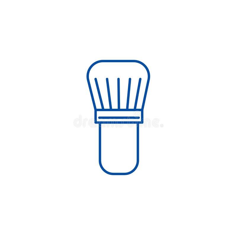 Cepillo para afeitar la línea concepto del icono Cepillo para afeitar el símbolo plano del vector, muestra, ejemplo del esquema ilustración del vector