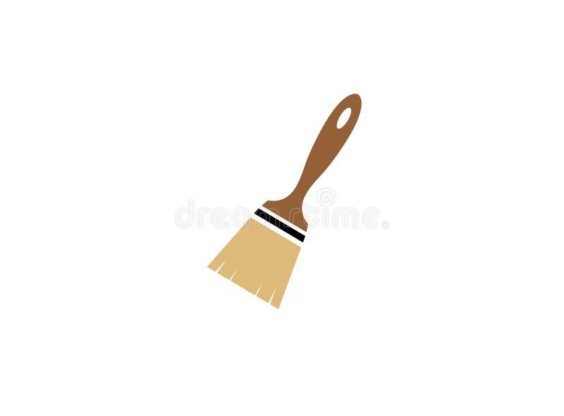 Cepillo para el ejemplo del diseño del logotipo, icono del pintor libre illustration