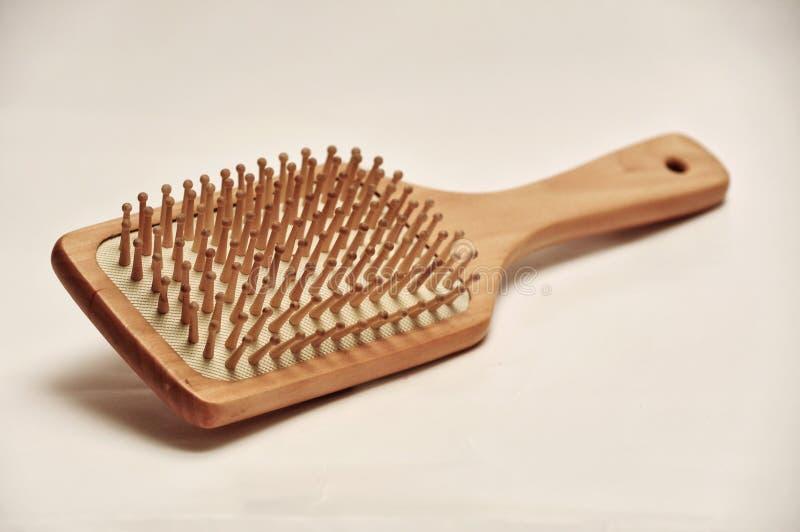 Cepillo para el pelo de madera fotografía de archivo