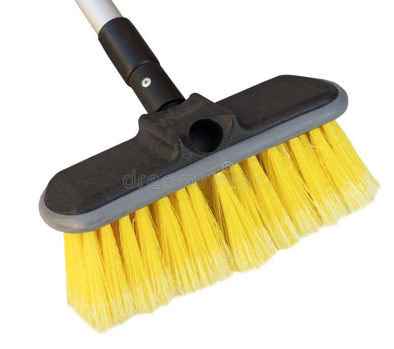 Cepillo para lavarse en blanco foto de archivo
