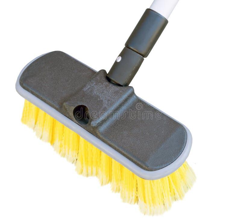 Cepillo para lavarse en blanco fotografía de archivo