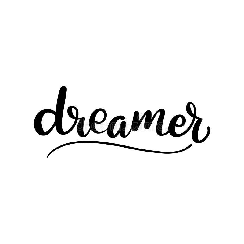Cepillo que pone letras al soñador libre illustration
