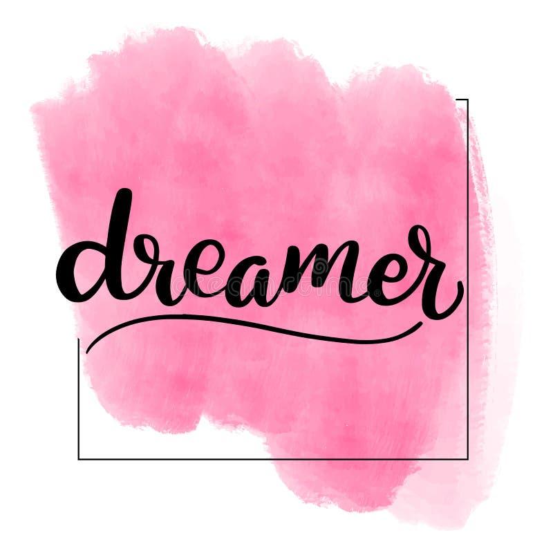 Cepillo que pone letras al soñador ilustración del vector