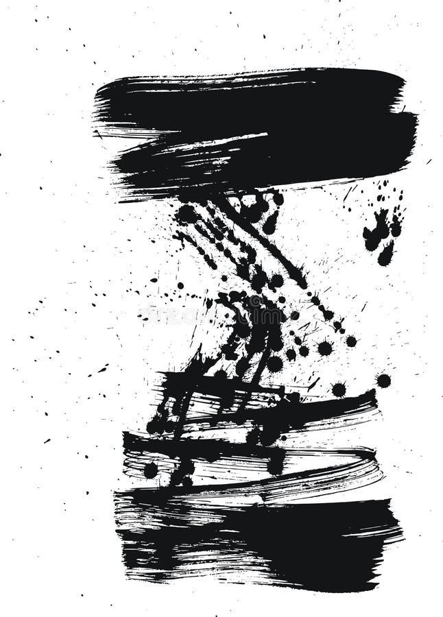 Cepillo y gotas ilustración del vector