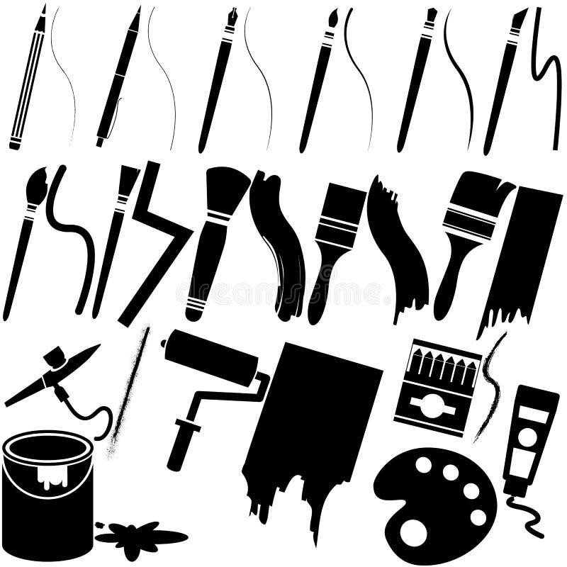 Cepillo y grunge ilustración del vector