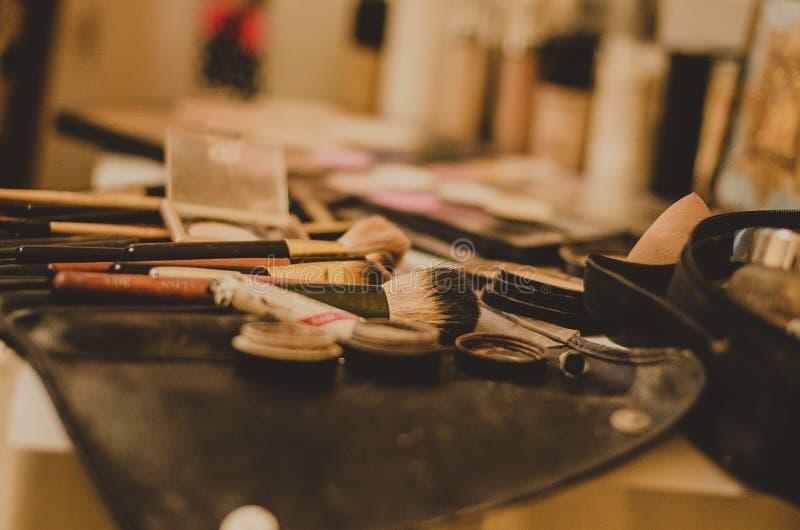 Cepillos cosméticos fotos de archivo libres de regalías
