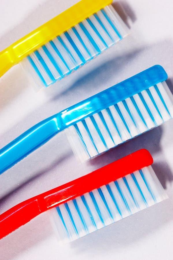 Cepillos de dientes foto de archivo