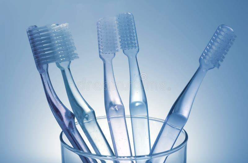 Cepillos de dientes imagen de archivo