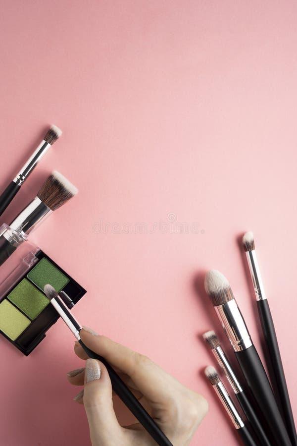 Cepillos de la belleza foto de archivo