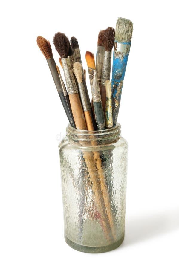 Cepillos de pintura foto de archivo libre de regalías