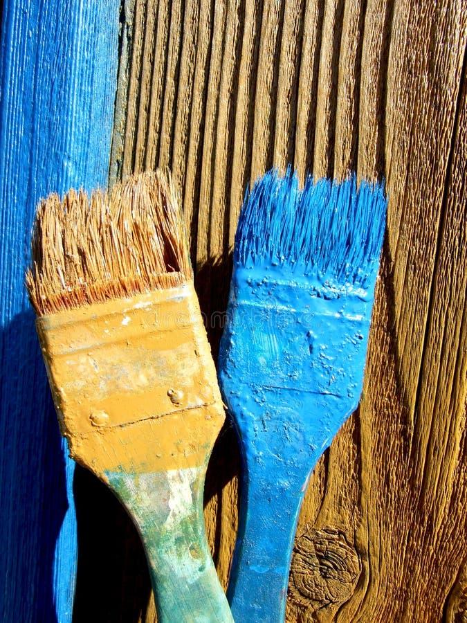 Cepillos de pintura fotografía de archivo libre de regalías